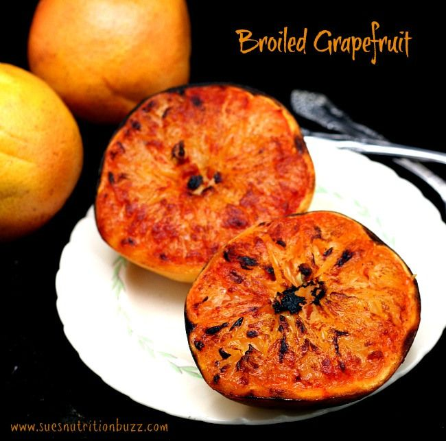 Warm broiled grapefruit with cinnamon brown sugar & cayenne