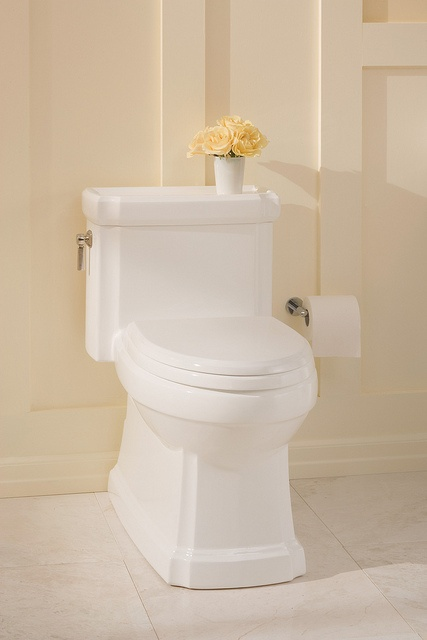 The Guinevere Toilet draws its design inspiration from traditional American furniture's vertical detailing & gently notched angles that resonate in its distinctive column, graceful tank, & generous lid with ample space of necessities. Skirted for easy maintenance, the Universal Height Guinevere one-piece toilet is ADA-compliant.  Its inner beauty arises from TOTO's 1.28 gpf Double Cyclone High-Efficiency Flush Engine. For more information, colors, and pricing, please visit http://www.totousa.com