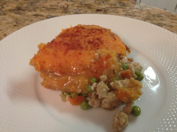 turkey and sweet potato Shepard's Pie, making this tonight, hope it's...