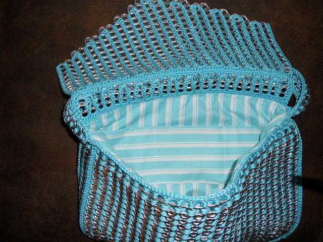 Crocheting With Pop Tabs : My first crocheted Pop Tab Purse. Soda Can Crafts Pinterest