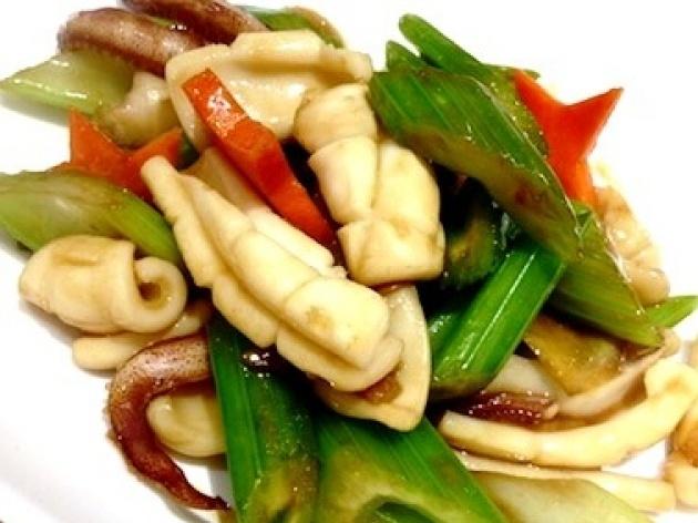 Squid And Celery Stir Fry Recipe — Dishmaps