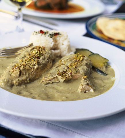 Chicken with Pumpkin Seed Sauce This dish is a favorite in Mexico's ...