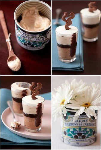 milk chocolate and chestnut mousse verrines tartelette