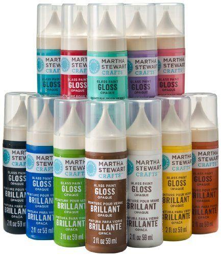 Martha stewart opaque glass paints kit art pinterest for Martha stewart glass paint instructions
