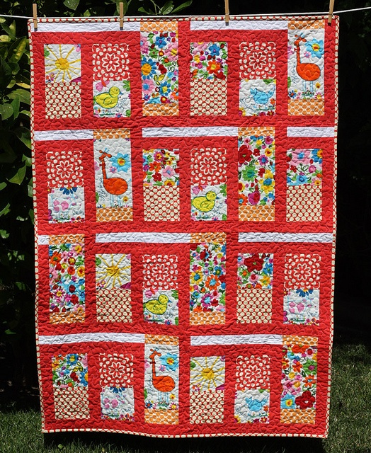 Quilt Patterns Using Large Scale Prints : Great large print quilts Quilts Pinterest