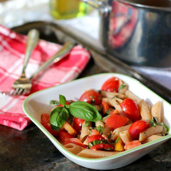 pasta with fresh tomato sauce | yummy yummy | Pinterest