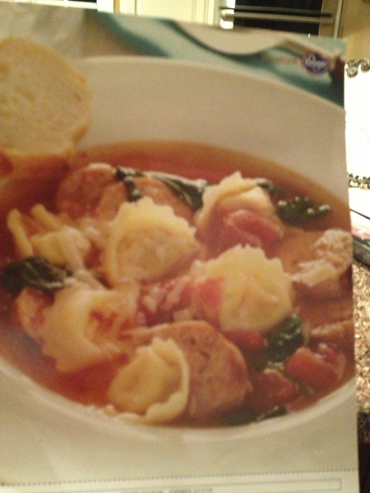 Chicken sausage & tortellini soup 4 tsp olive oil 1pkg Italian chicken ...