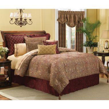 Velvet Lourdes Chocolate Comforter Set Accessories Bed Mattress Sale