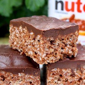 nutella rice krispy treats | Food and Drink | Pinterest