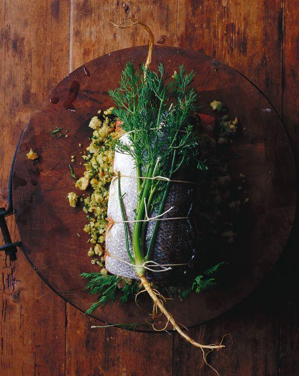 Herb-Stuffed Baked Salmon | Recipe