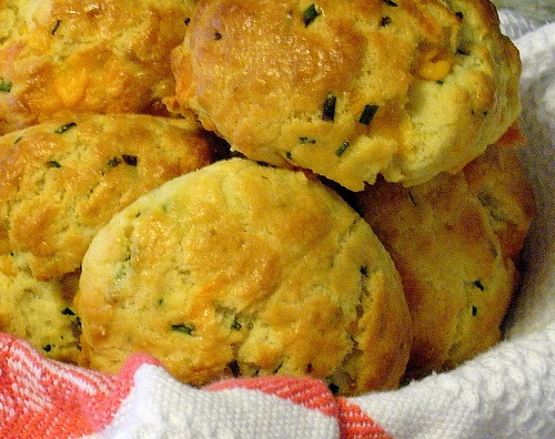 Cheddar Chive Scone. Very easy to make and would be great with bacon ...
