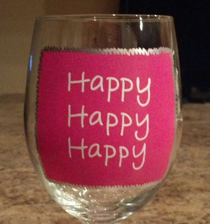 Each 21oz wine glass is hand painted with glass paint and baked