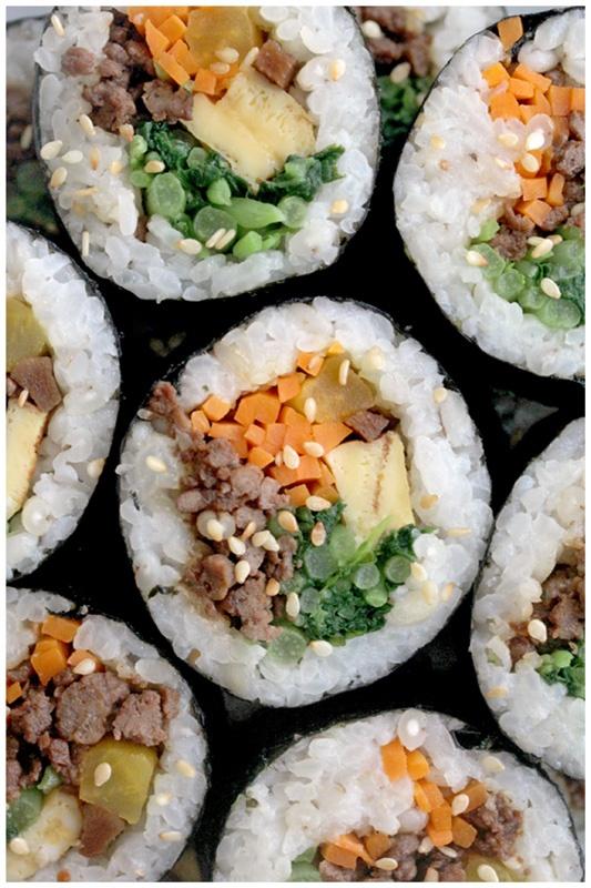 Beef Kimbap (쇠고기 김밥) | ♨♥ Sushi Love ♥♨ | Pinterest