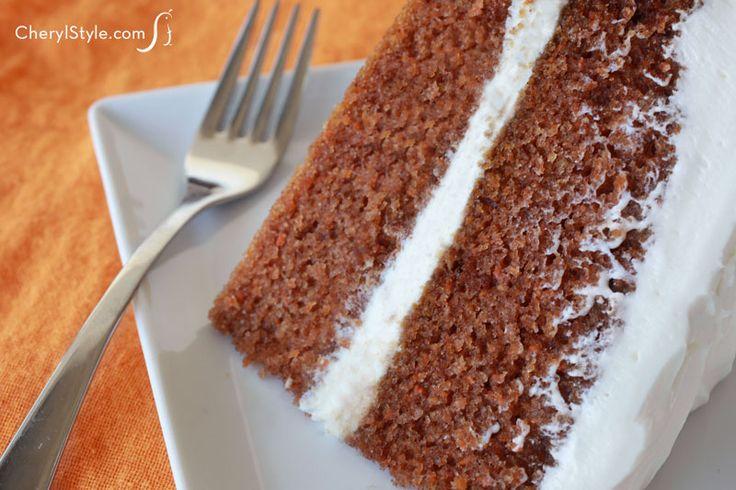 super moist carrot cake with cream cheese frosting moist carrot cake ...
