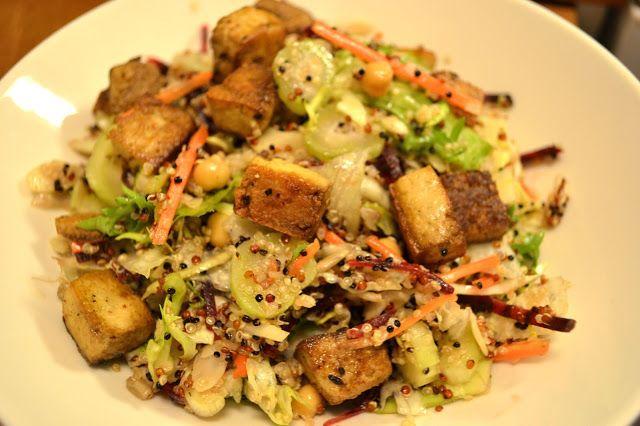 Warm Quinoa salad with fried Tofu   F»Tofu   Pinterest