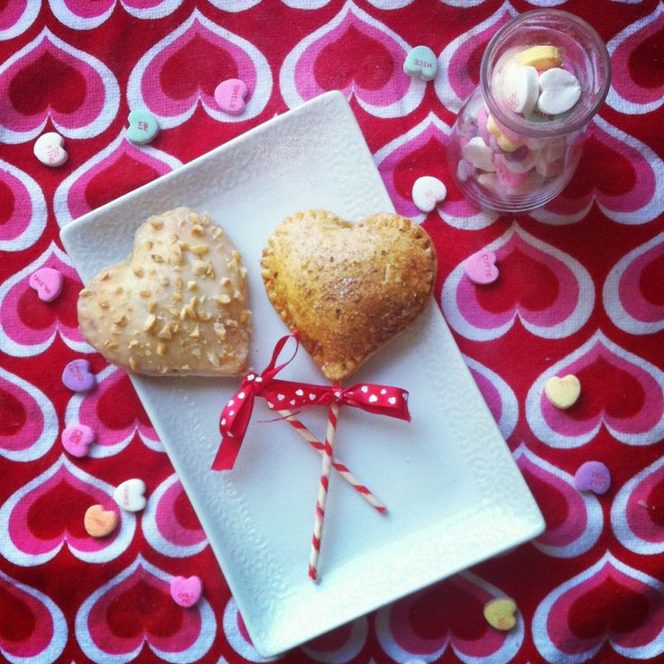 Heart Shaped Cinna-Monkey Pie Pops in Whole Wheat Crusts | Recipe