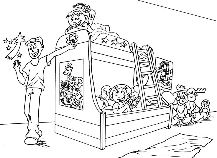 our bedroom colouring pages