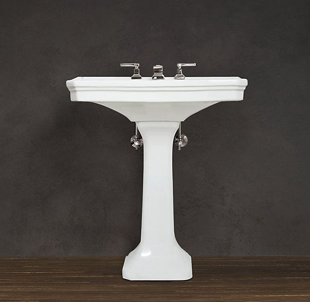 Powder room pedestal sink. Dream Home Pinterest