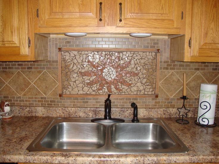 Diy Mosaic Tile Backsplash Accent Walls Pinterest