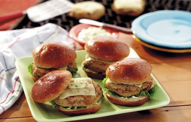 Grilled Chicken Burgers - Grandma would pat out mini burgers for her ...