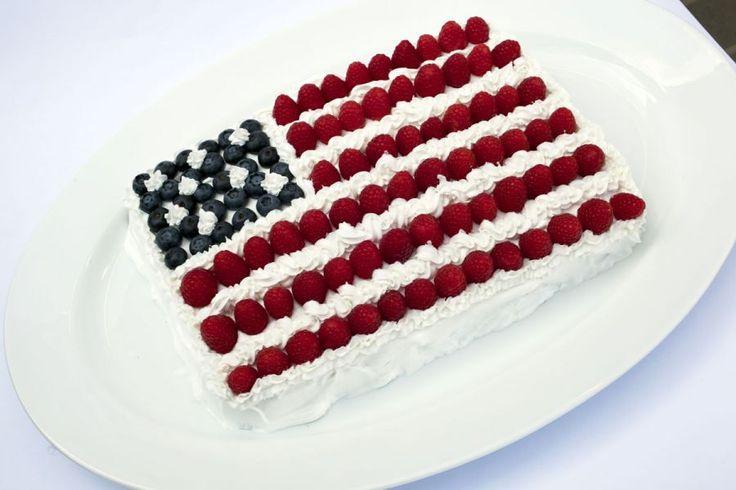 Patriotic american flag cake recipe for American flag cake decoration