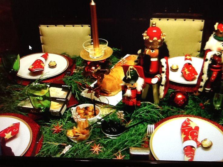 Mesa de navidad mesas en decoracion pinterest - Mesas decoradas para navidad ...