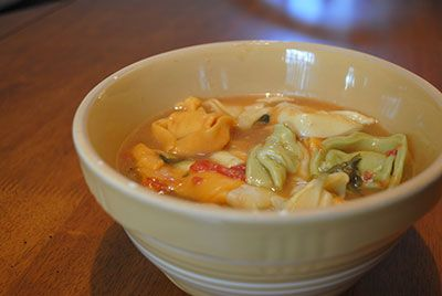Tortellini Soup Recipe... A great comfort food that is easy to make and delicious!