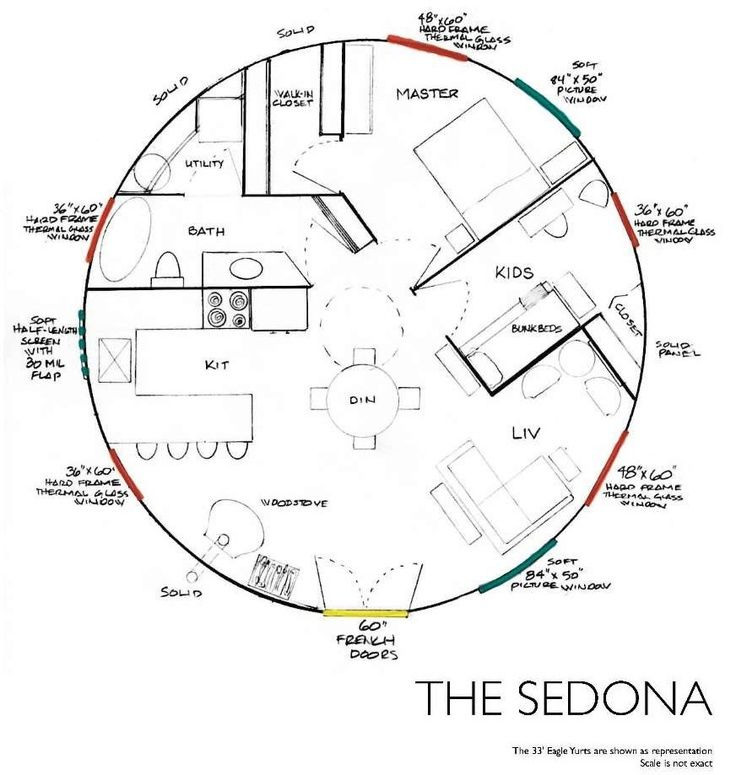 Yurt floor plan sedona architecture pinterest Yurt house plans
