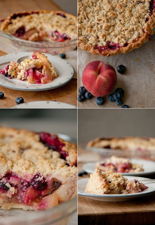 peach & blueberry pie | Main Dish | Pinterest