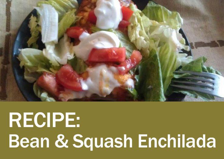 Black Bean and Squash Enchiladas   Fitness foods   Pinterest