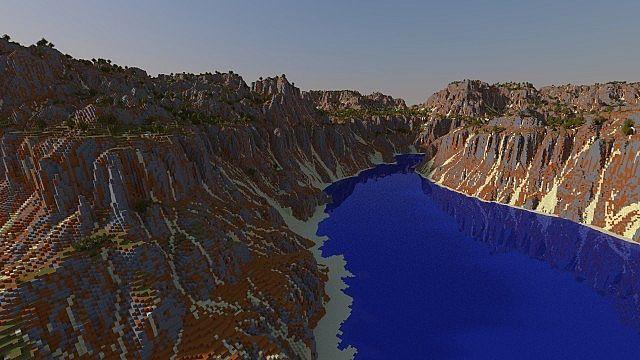 Canyon river minecraft world save
