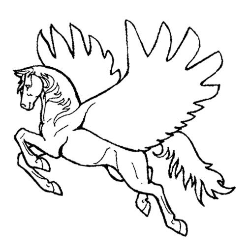horses and unicorns coloring pages - photo#10