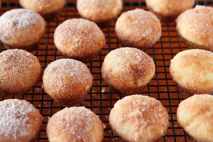 Strawberry Shortcake Doughnut Muffins | Recipe