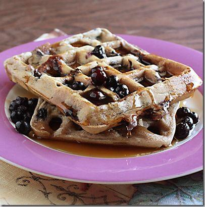 Blueberry Spelt Waffles | Food: Healthy Recipes | Pinterest