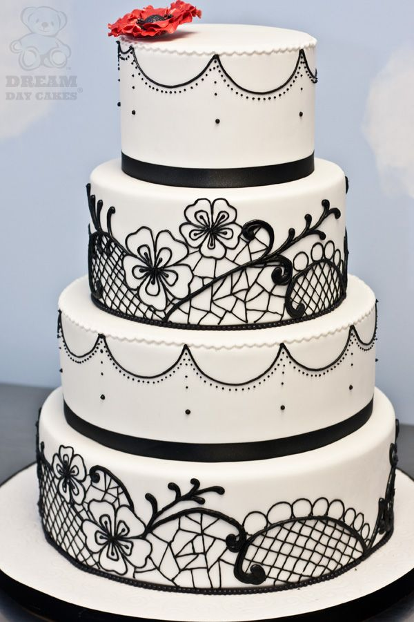 White Wedding Cake Piped Lace Wedding 2014 Cake And Food