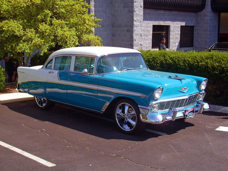 1956 chevy 4 door cars pinterest for 1956 chevy 4 door
