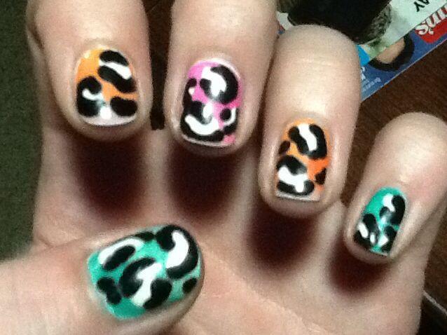 Ombré cheetah nails | Nails | Pinterest