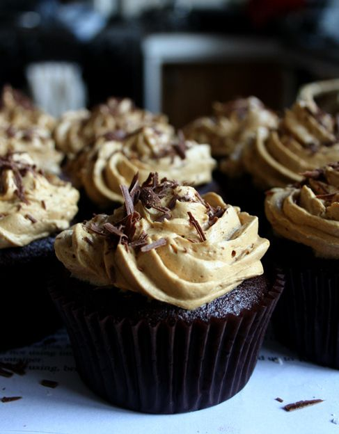 chocolate cupcakes with coffee frosting   Foods I HAVE made   Pintere ...