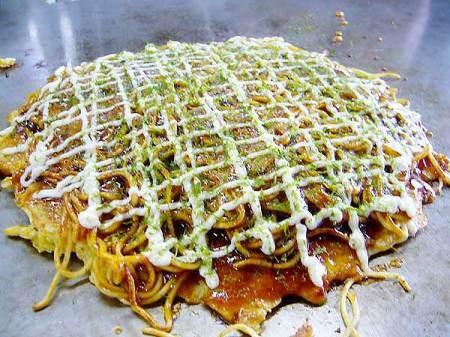 Okonomiyaki - Kansai Style....with soba noodles! :D The best way! Just ...