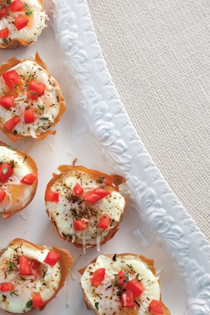 the menu. These creamy Baked Eggs Nests are wrapped in prosciutto ...