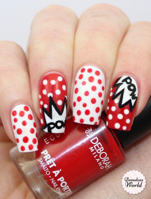 Pow Nails for Deborah Milano Beauty Club | Geeky Nails | Pinterest
