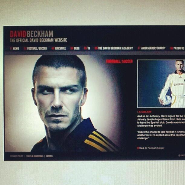david beckham official website: