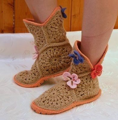 Видео вязание носочки и тапочки спицами