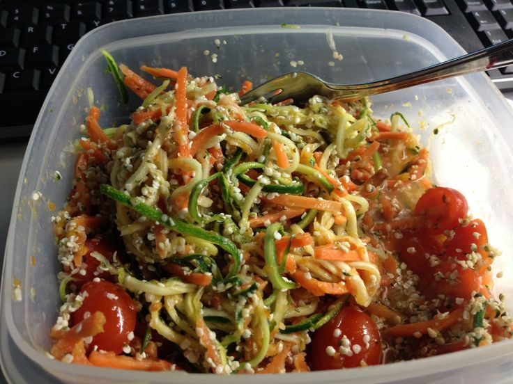 "Zucchini Carrot ""pasta"" 