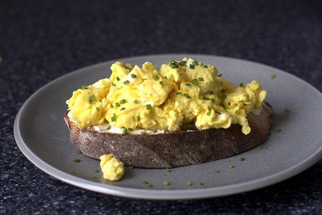 Scrambled Egg Toast | Food & Drink | Pinterest