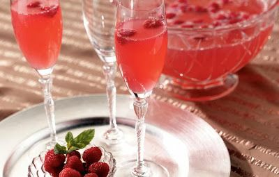 Pink Champagne Punch | Cocktails | Pinterest