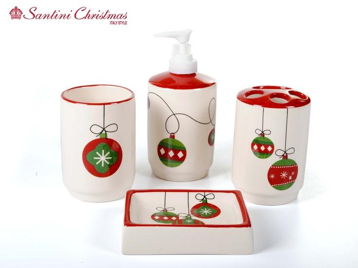 Set De Baño De Navidad:Set de Baño – Bolitas de Navidad / Christmas Balls Bathroom Set