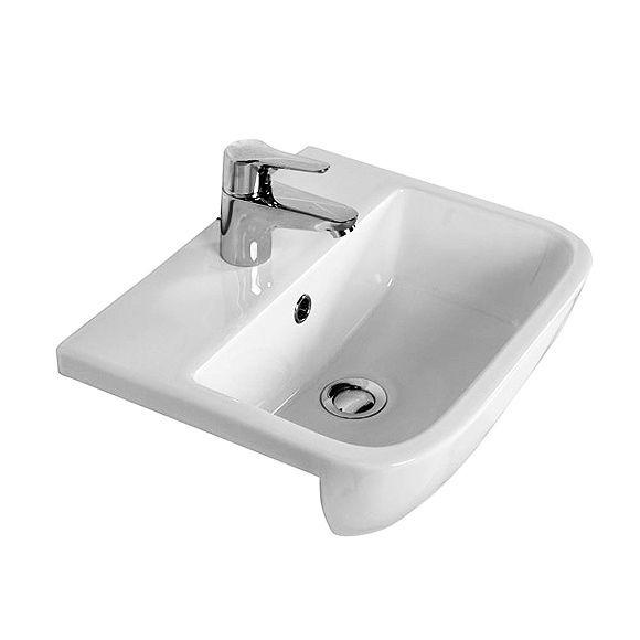 Low Profile Bathroom Sink : RAK Series 600 Semi-recessed Basin 420mm Dimensions: 420(w) x 345(d)mm ...