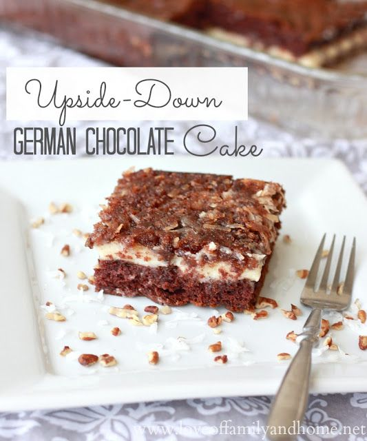 Upside Down German Chocolate Cake | Cakes and Cupcakes | Pinterest