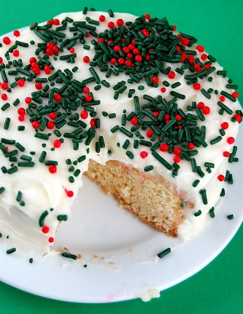 Egg Nog Cake with Bourbon Cream Cheese Frosting